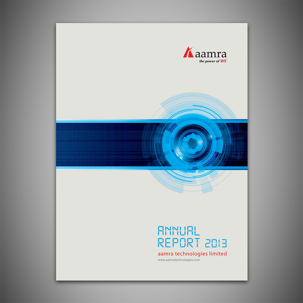 aamra Technology Limited's Annual Report 2013. I was the lead coordinator responsible for working with all the departments of ATL, writing and composing the report and working with the publishers in preparing and printing it.