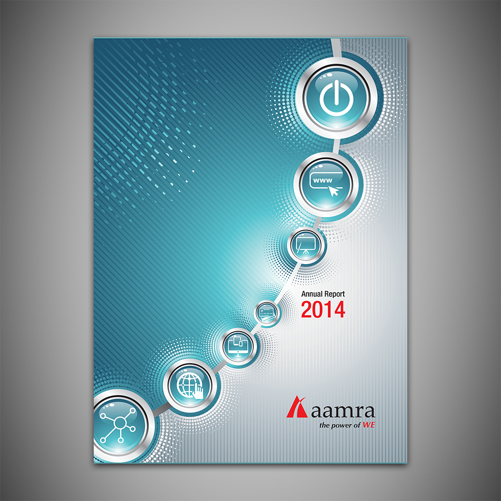 aamra Technology Limited's Annual Report 2014. I was the lead coordinator responsible for working with all the departments of ATL, writing and composing the report and working with the publishers in preparing and printing it.